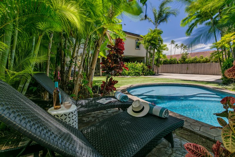 Backyard pool & spa. Optional child safety fence available ask reservations manager for more details