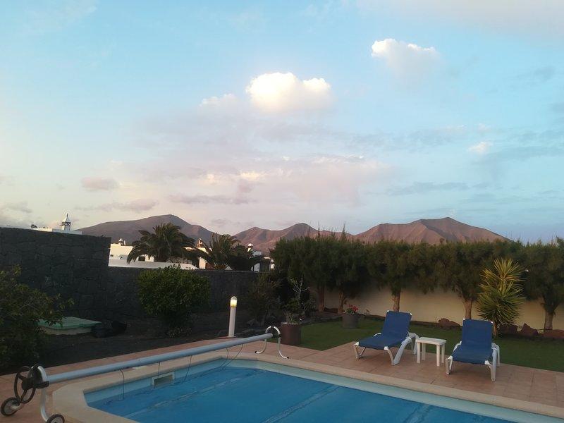 Summer evening View from garden