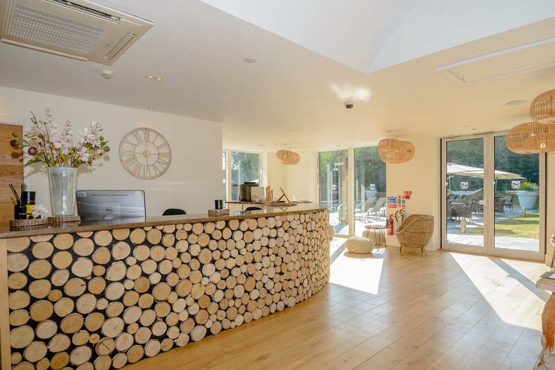 The Luxury Spa reception - quite literally just a few minutes walk from your lakeside holiday villa