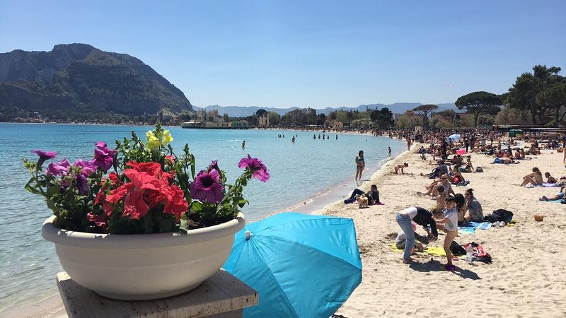 View from the square of Mondello