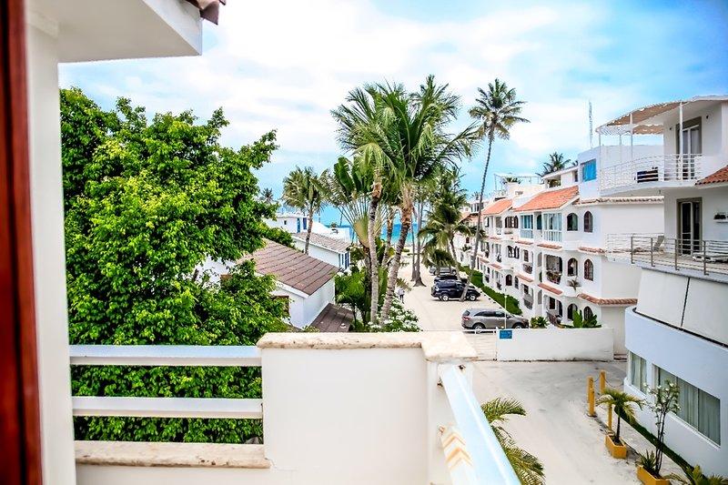 Incroyable vue sur la plage depuis le balcon