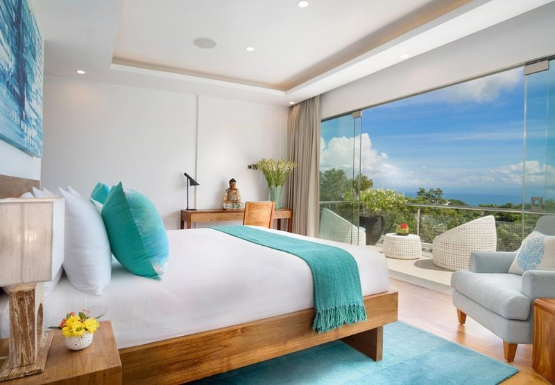 Master Bedroom with terrace and views