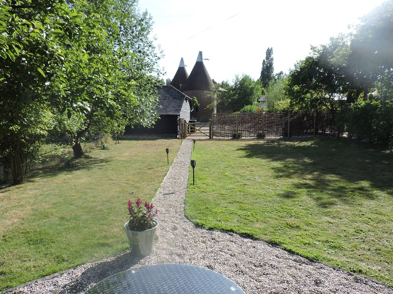 View up to to our Oast House