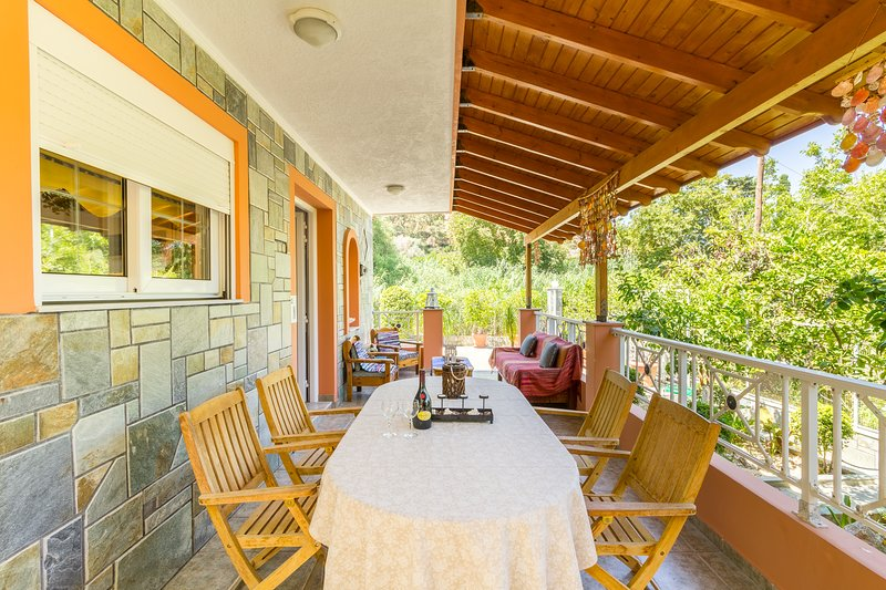Private Villa Verde - Stegna Beach, location de vacances à Stegna