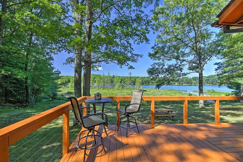 Burns Lake awaits you at this Hayward vacation rental house!
