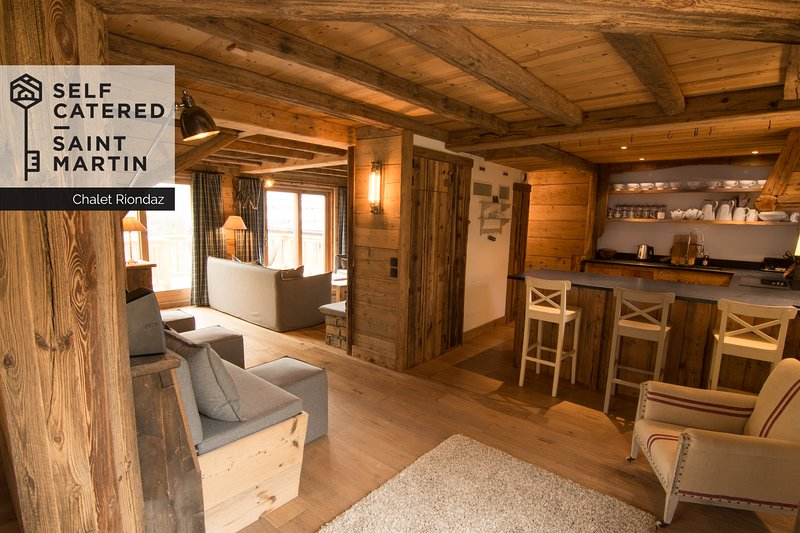 A typical mountain chalet in the heart of a traditional Savoyard village