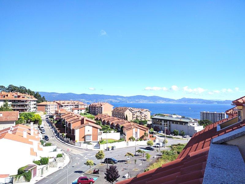 Atico con vistas al mar en Sanxenxo, alquiler de vacaciones en Sear