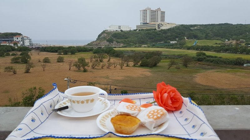 Breakfast, with views over the beach
