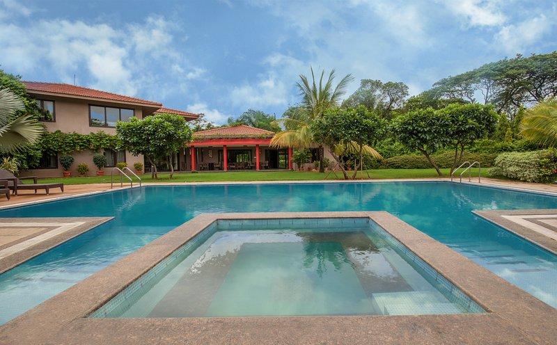 Huge private pool