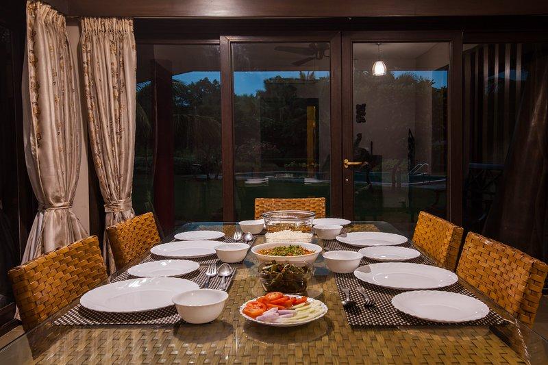 Comidas hogareñas se pueden preparar en la villa