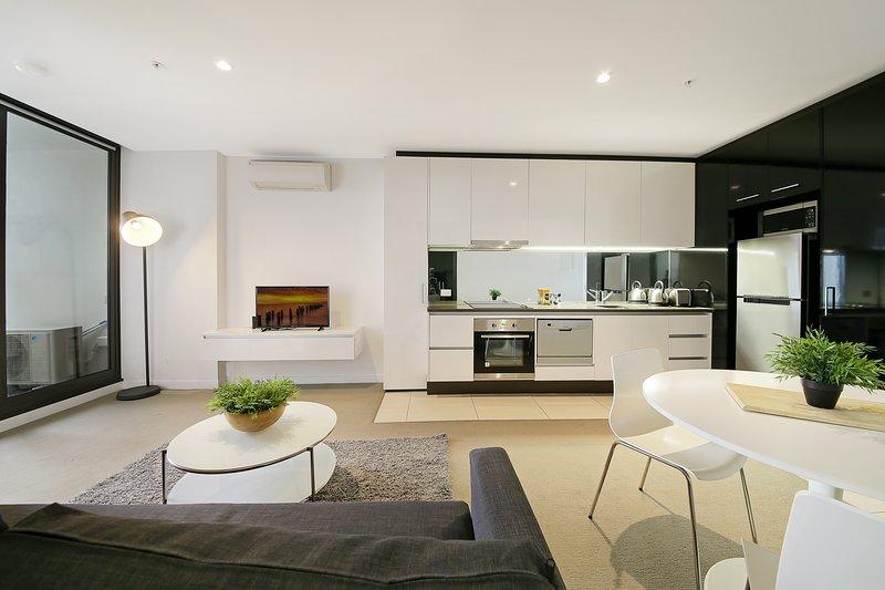 A modern & spacious interior.