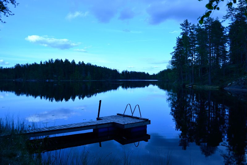 Wonderful traditional Finnish holiday house in silent forest lake, casa vacanza a Central Finland