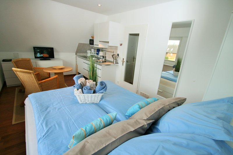 Living-sleeping area with pantry kitchen