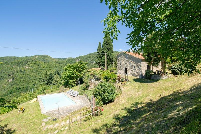 Castagneto Carducci Holiday Home Sleeps 10 with Pool and WiFi - 5634098, location de vacances à San Godenzo