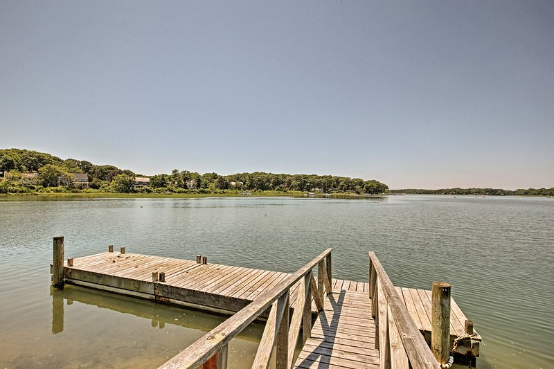 You'll love dipping your toes in the water from the dock.