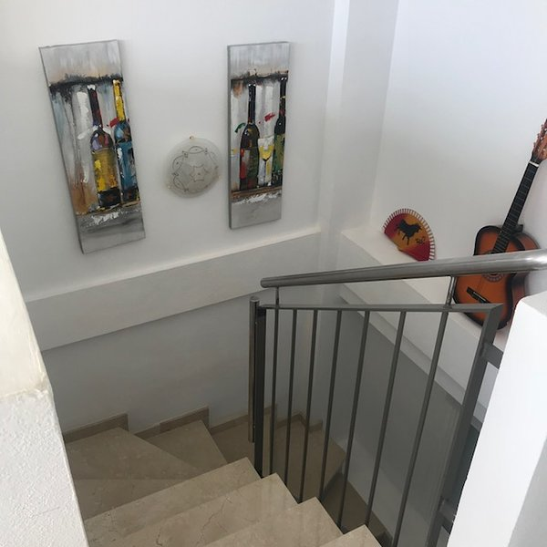 Stairs to lower floor