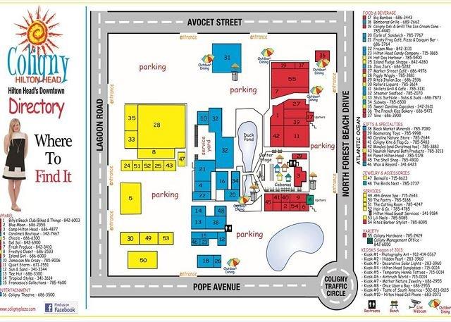 Carte de Coliny Plaza