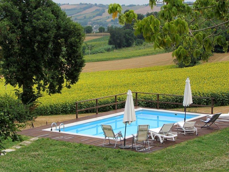 Big villa with swimming-pool & Wifi, holiday rental in Mondavio