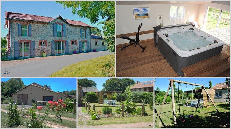 Maison avec SPA à la campagne et à 15 kms de la mer, holiday rental in Le Champ-Saint-Pere