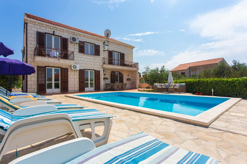 Villa Dobrasin with swimming pool, alquiler de vacaciones en Cavtat