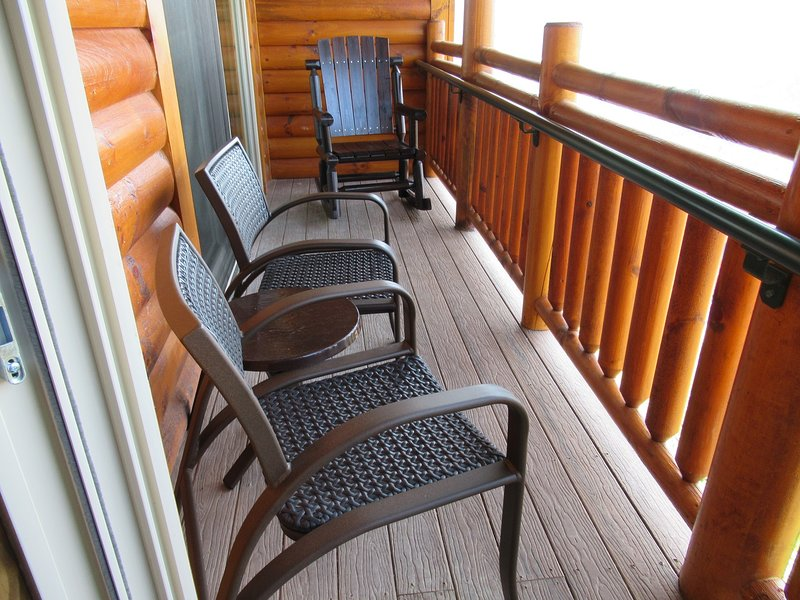 Balcony with comfy rocker