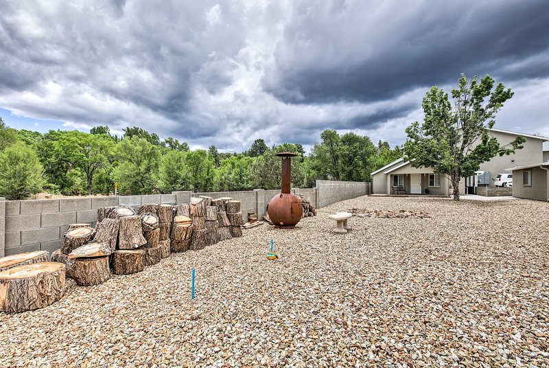 You'll have access to wonderful outdoor amenities, including a custom chiminea!