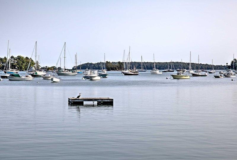 Para el último retiro de Maine, reserve esta ubicación inmejorable en South Freeport.