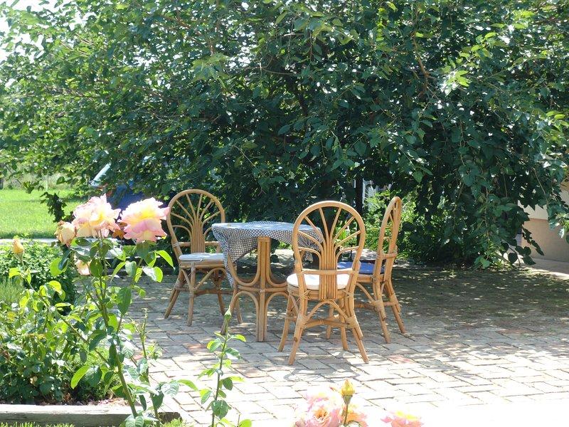 Endroit ombragé dans le jardin