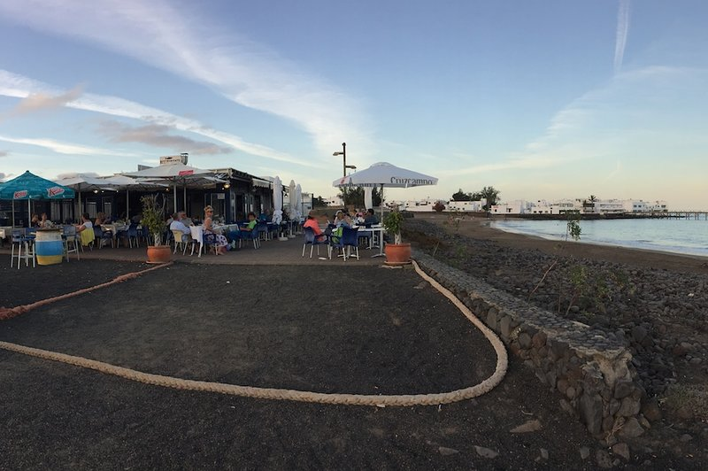 Fish restaurant on Arrieta beach.