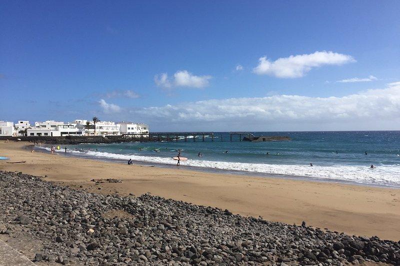 Arrieta beach, just a short drive from the villa.