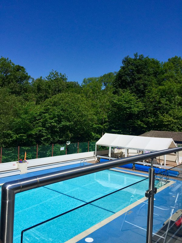 Ingleton's outdoor heated swimming pool (open May to end August)