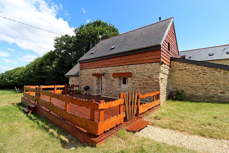 Gite Bretagne 'Tal ar Galonn' 4 à 10 personnes,et aussi bienvenue aux cavaliers, location de vacances à Rosporden