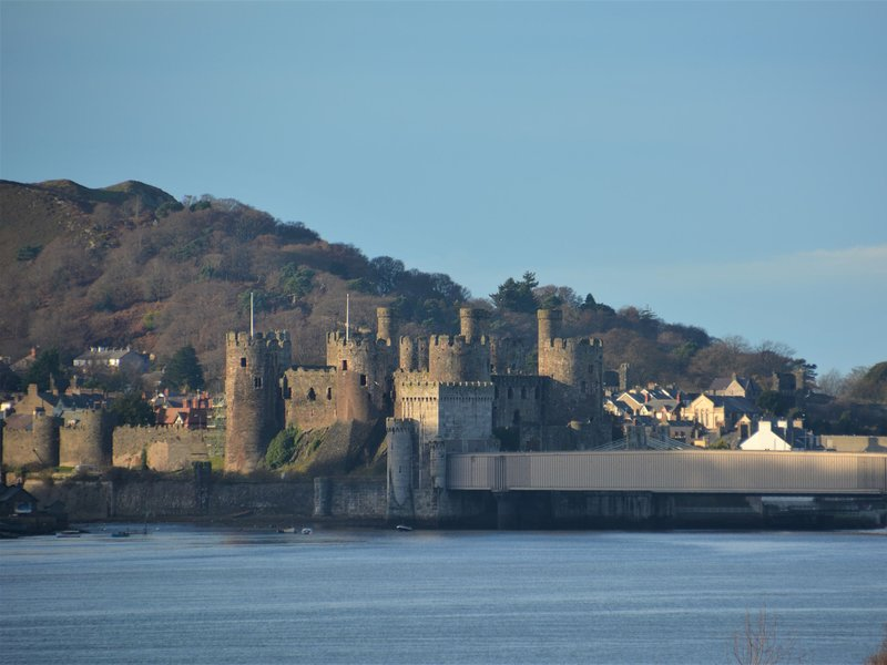 Conwy castle just a short drive away