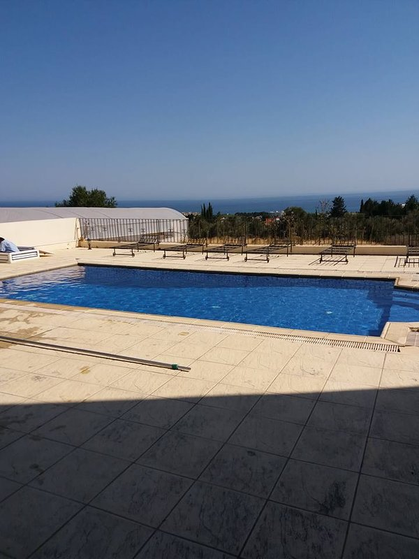 The Pool is 10 mt. to 5 mt. with a Great view.