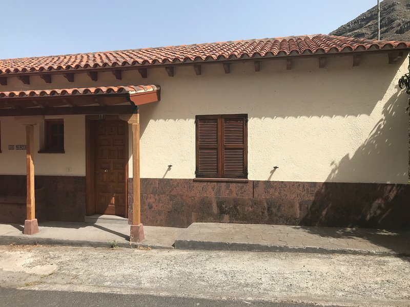 Front of Casita Brego with parking right outside the front door.