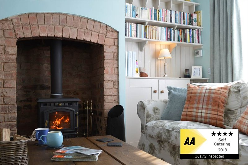 Cosy up in front of the log burner in this 4 star holiday cottage