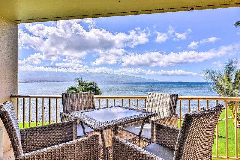 Paradise awaits you at this stunning Maalaea vacation rental condo!