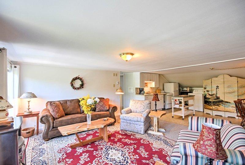 Mit der zusätzlichen Wohnung und Küche genießen mehrere Familien Privatsphäre.