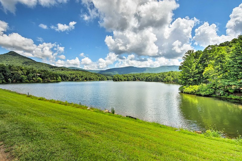 Fish and swim at Lake Tamarack, just 10 minutes from the vacation rental home!