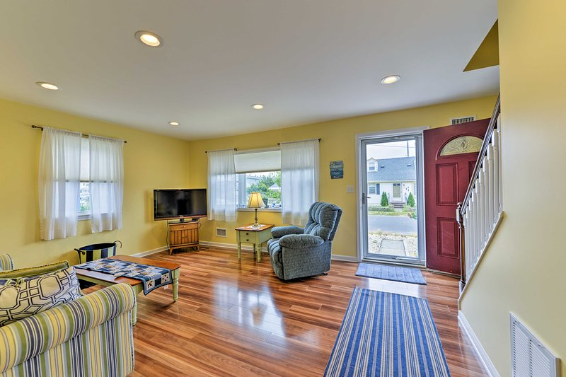 Filled with top-notch furnishings and hardwood floors, you'll love the interior.