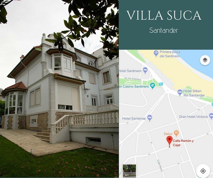 Villa Suca Chalet en el Sardinero, Santander a 200 metros de las playas, location de vacances à Santander