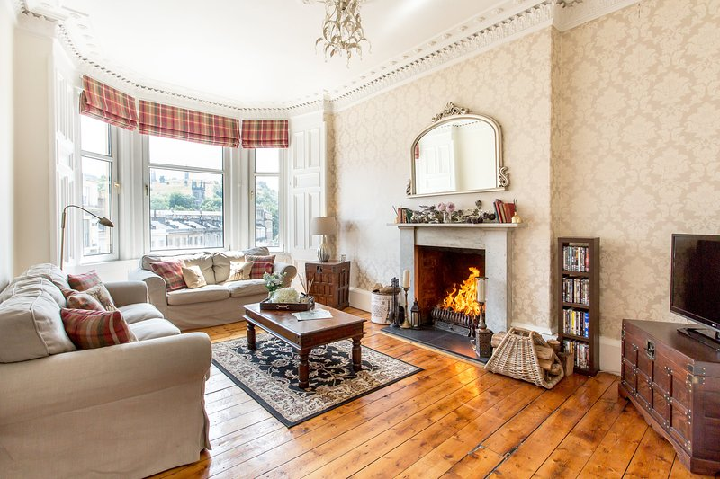 Log Fire City Centre Edinburgh Apartment, alquiler vacacional en Edimburgo
