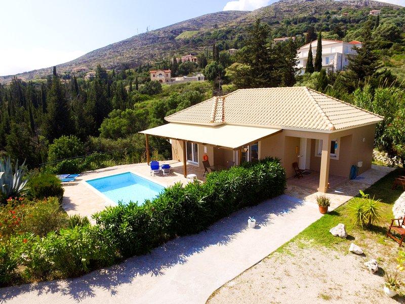 The villa in greenery