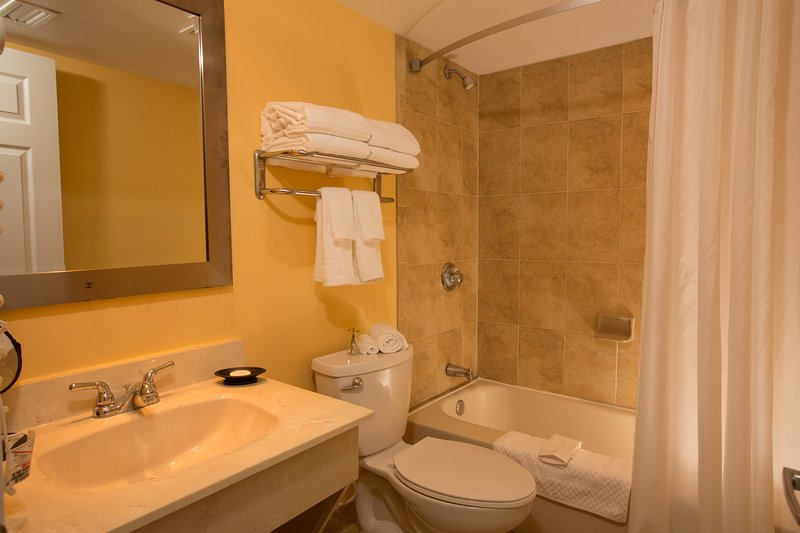 Bathroom with the provided essential kit!