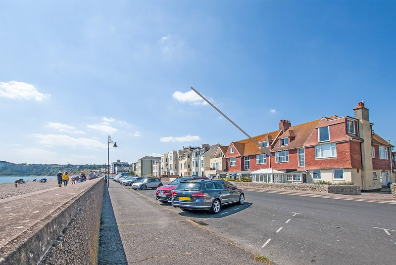 Seaspray, first floor apartment on the seafront at Seaton, Devon on the Jurassic Coast