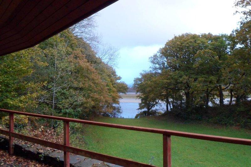 Vista del estuario desde la cabaña