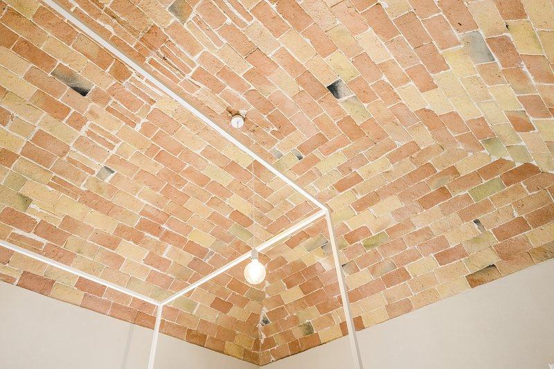 Detalle del techo de las habitaciones