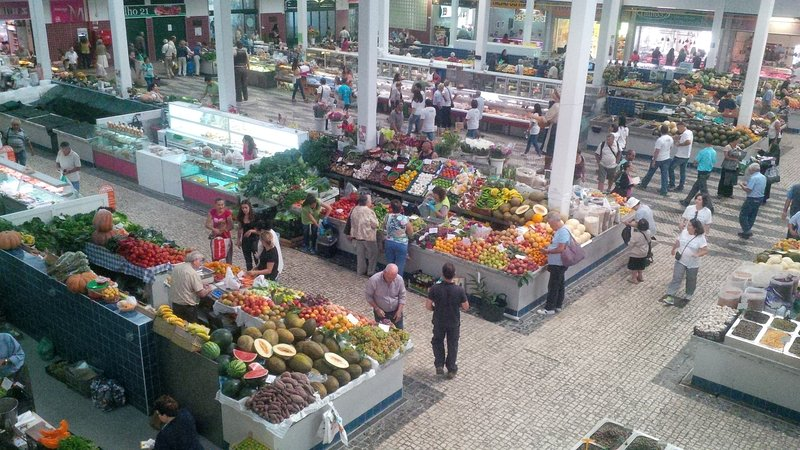 Livramento Market of Setúbal. It is considered one of the best in Portugal.
