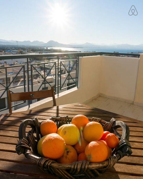 Enjoy your breakfast overlooking the Corinthian gulf