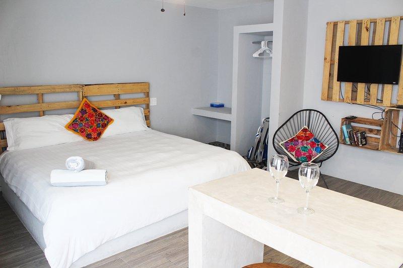 Acogedor apartamento estudio con aire acondicionado y Smart / TV por cable